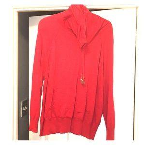 Red Michael Kors turtleneck sweater size large